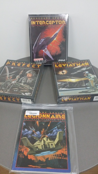 Some of the Renegade Legion line of games